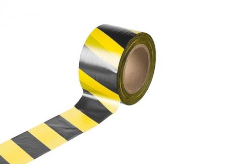Лента оградительная черно-желтая